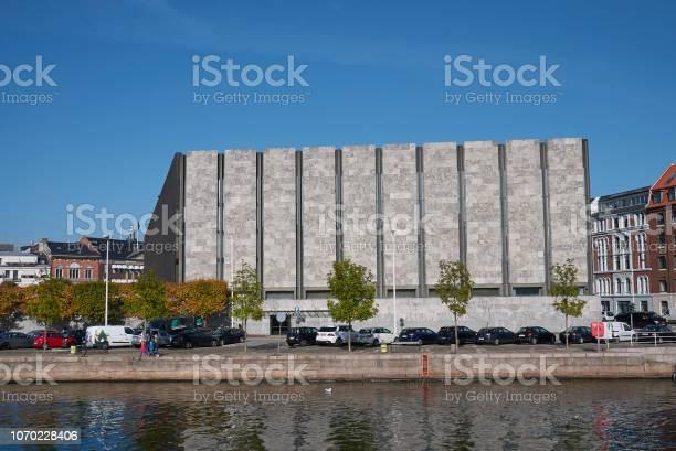 Copenhagen, Denmark - October 10, 2018: View of Danmarks Nationalbank