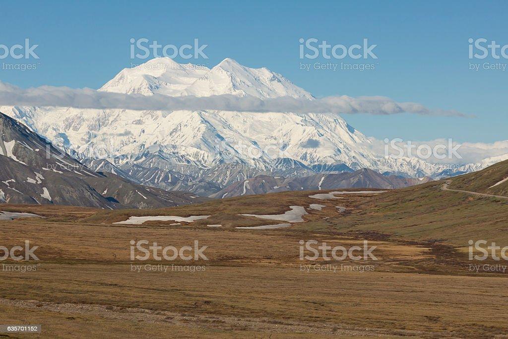 View of Denali from Stony Hill. royalty-free stock photo