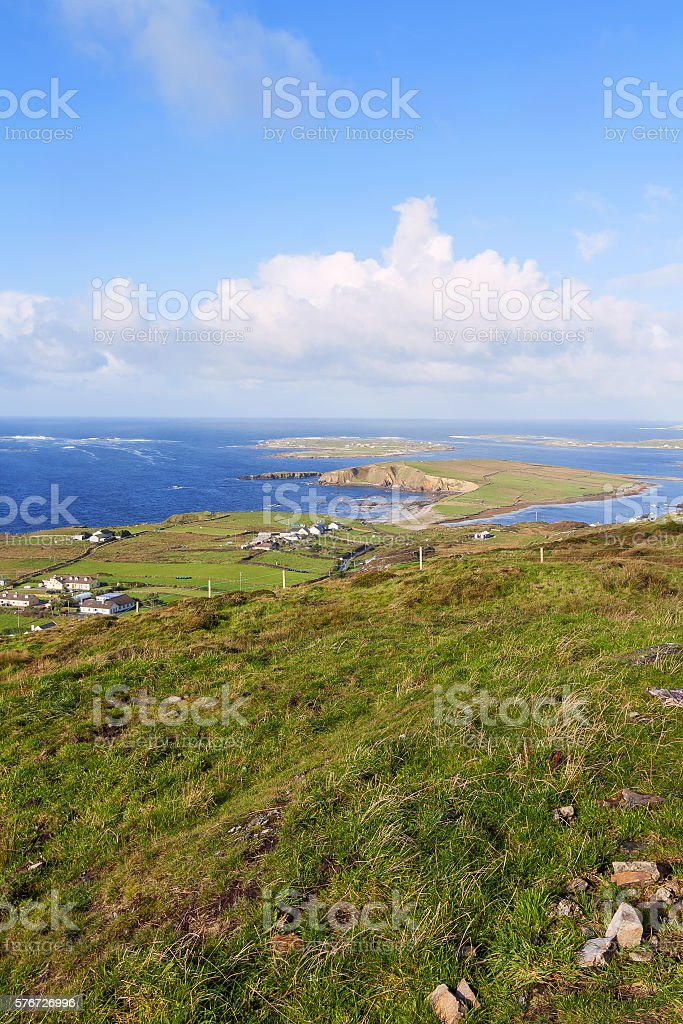 view of dingle peninsula - Ireland stock photo