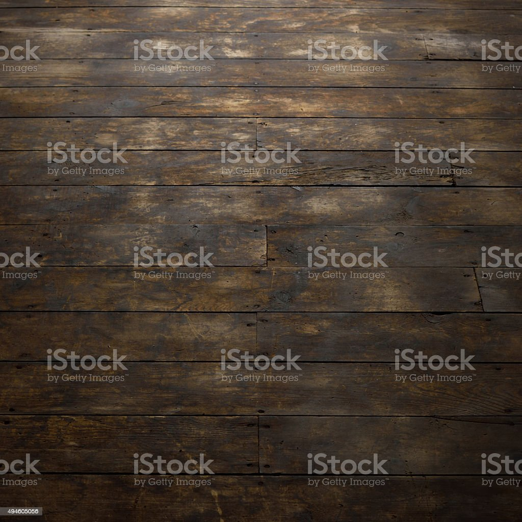 View of Distressed Wood Floor stock photo