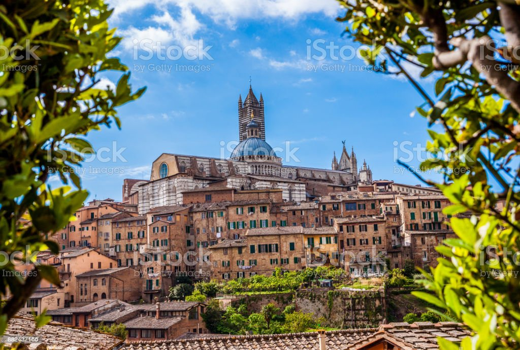 View Of Dome And Campanile Of Siena Cathedral A Beautiful ...