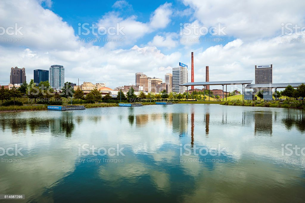 View of downtown Birmingham, AL stock photo
