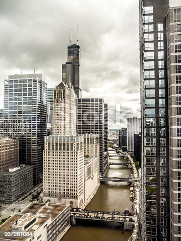istock View of downtown Chicago from a high rise looking towards Willis Tower formerly Sears Tower. 937261084
