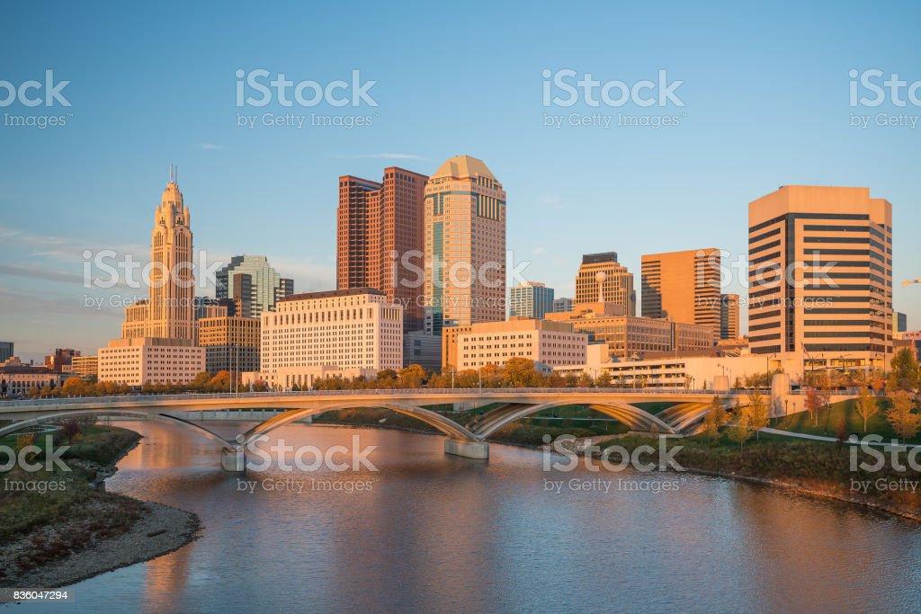 View of downtown Columbus Ohio stock photo
