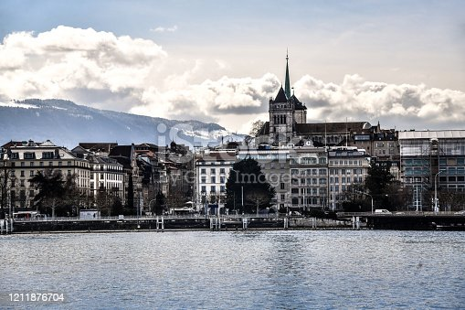 A View Of Downtown Geneva From Lake Geneva