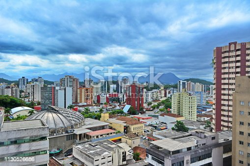 Beautiful view of the central area of Joinville, Santa Catarina, Brazil, photo taken on 02/02/2019.