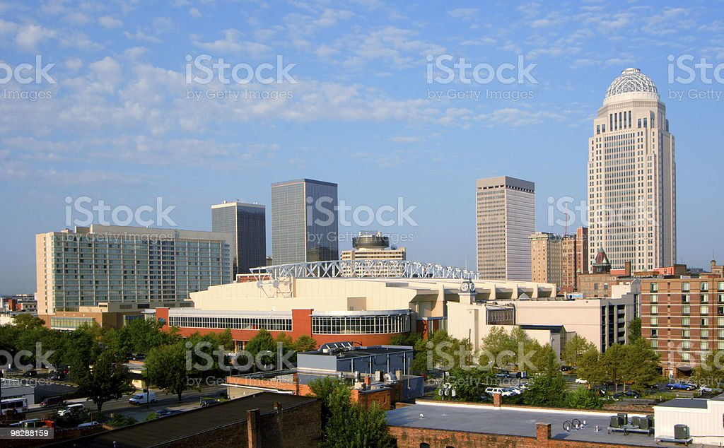 View of downtown Louisville, Kentucky royalty-free stock photo