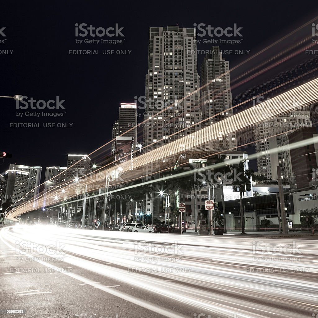View of Downtown Miami royalty-free stock photo