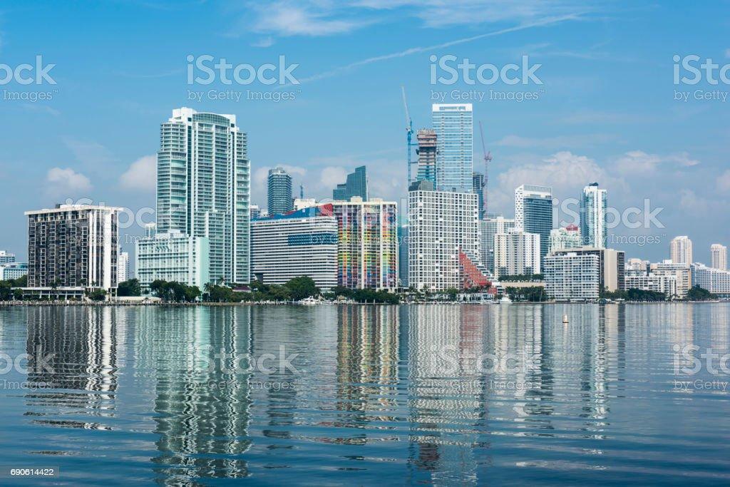 View of downtown Miami, USA. stock photo
