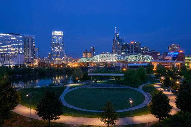 View of Downtown Nashville Tennessee USA