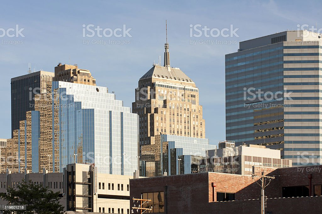 A view of downtown Oklahoma City royalty-free stock photo