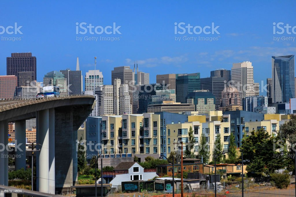 View of downtown San Francisco on a sunny day stock photo