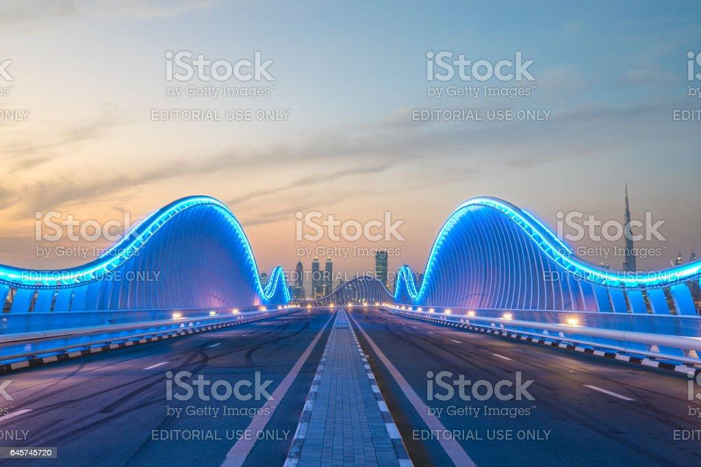 View of Dubai Downtown. stock photo