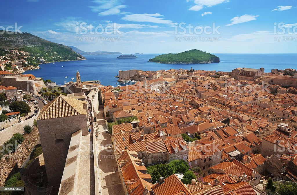 View of Dubrovnik, Croatia stock photo
