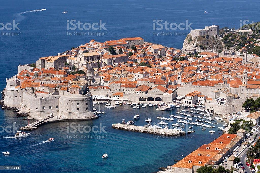 View of Dubrovnik (Croatia) stock photo