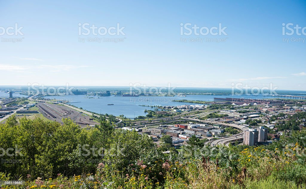 View of Duluth, Minnesota stock photo