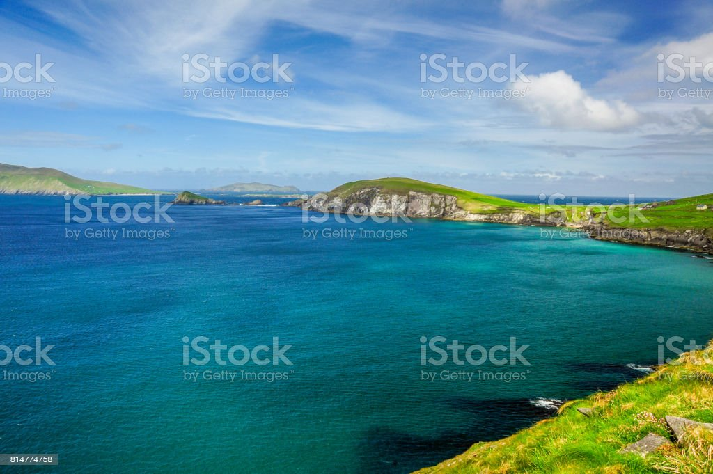 View of Dunquin Bay stock photo