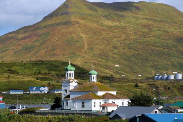 Blick auf dutch Harbor- Unalaska – Foto