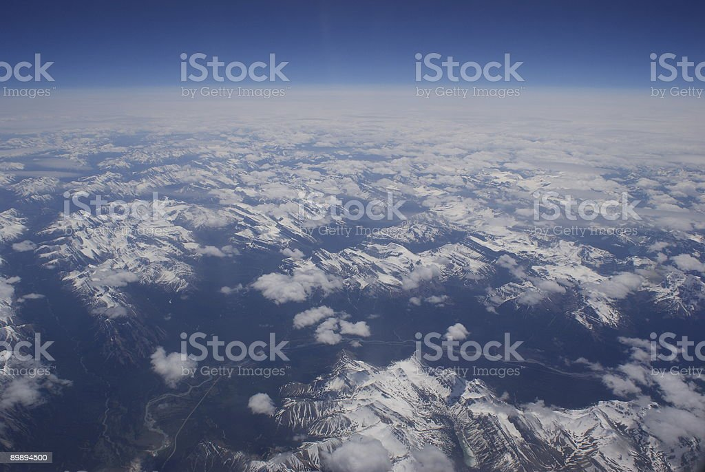 View of earth from sky royalty-free stock photo
