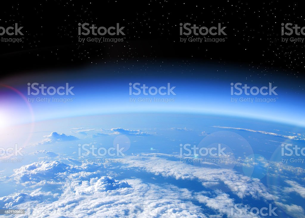 View of Earth from space​​​ foto