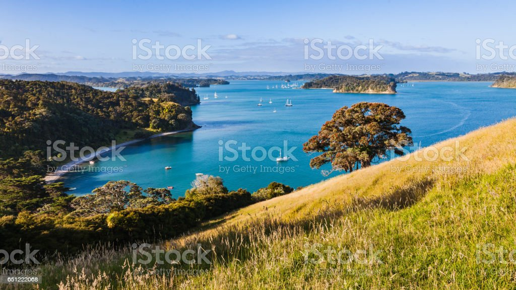 View Of East Coast Bays, From Mahurangi. stock photo