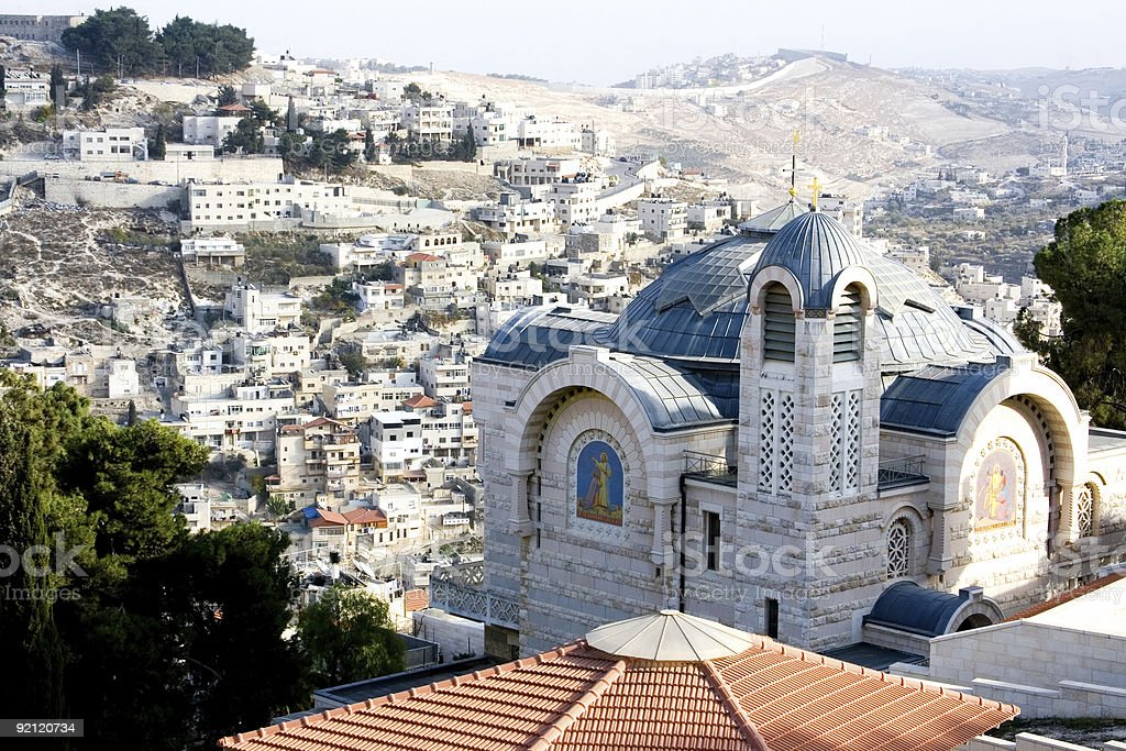 View of East Jerusalem royalty-free stock photo