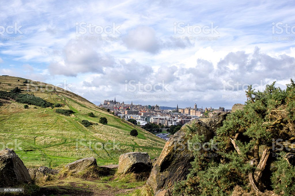 view of Edinburgh city stock photo