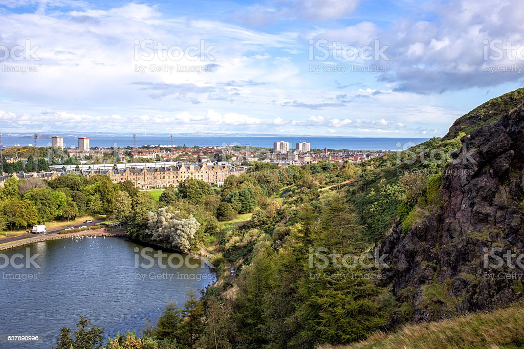 view of Edinburgh city, Scotland stock photo