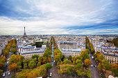 istock View of Eiffel tower and Paris form Triumph Arc 506349264