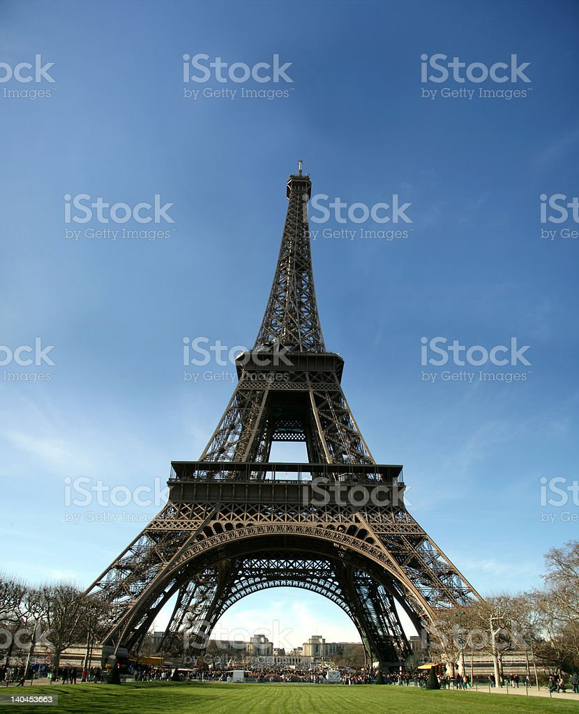 HD view of eiffel tower - france stock photo