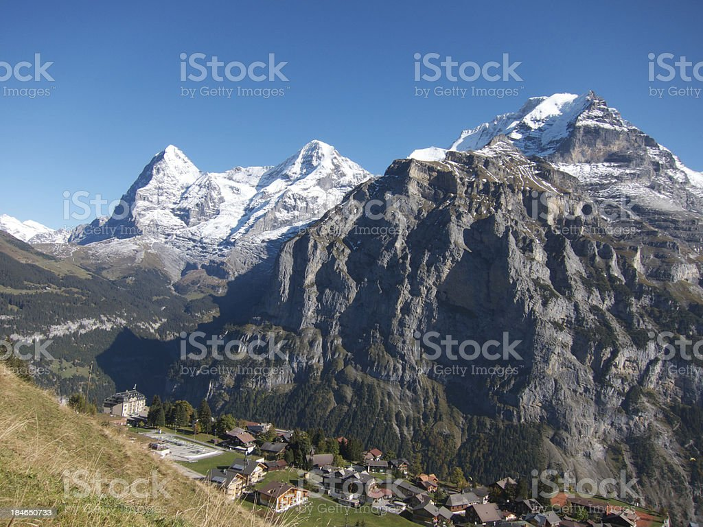 View of Eiger stock photo
