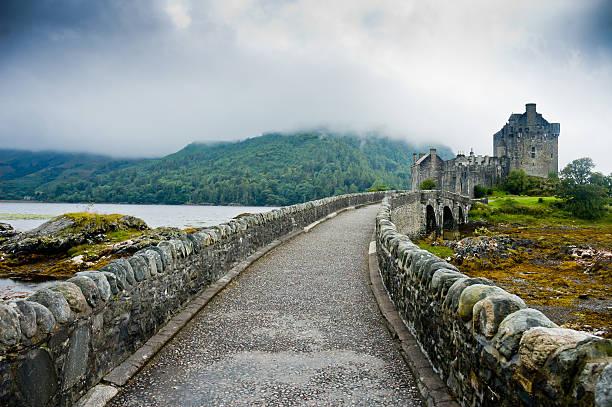 View of Eilean Donan Castle in Scotland stock photo