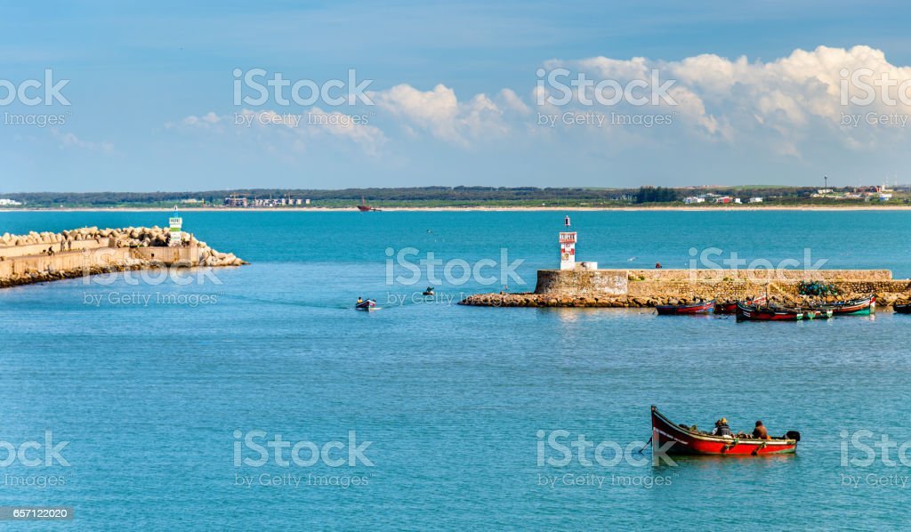 View of El Jadida Port in Morocco stock photo