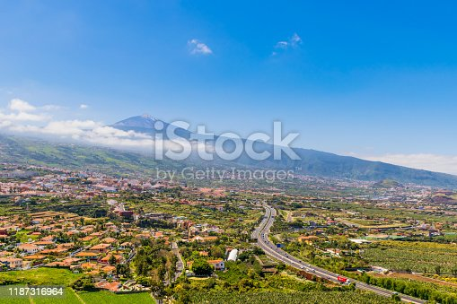La Orotava is a town and a municipality in the northern part of Tenerife. The area of the municipality stretches from the north coast to the mountainous interior, and includes the summit of the Teide volcano, Spain's highest point at 3,718 m.