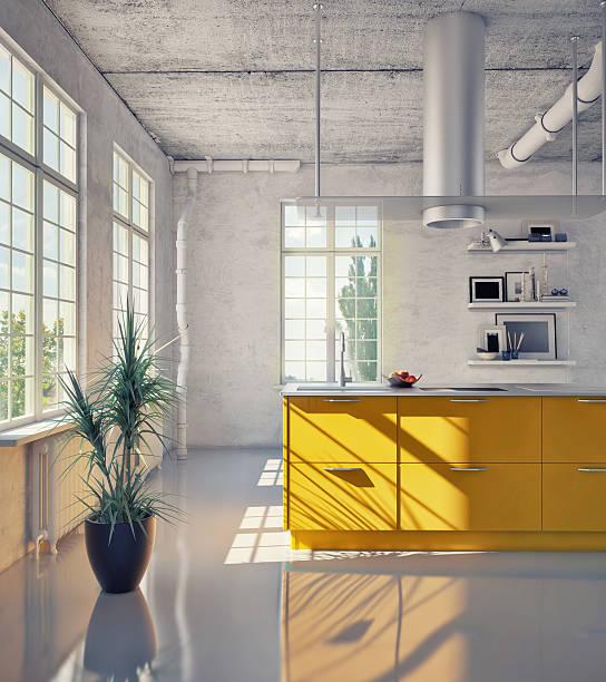 ansicht von eleganter küche - küche neu gestalten ideen stock-fotos und bilder