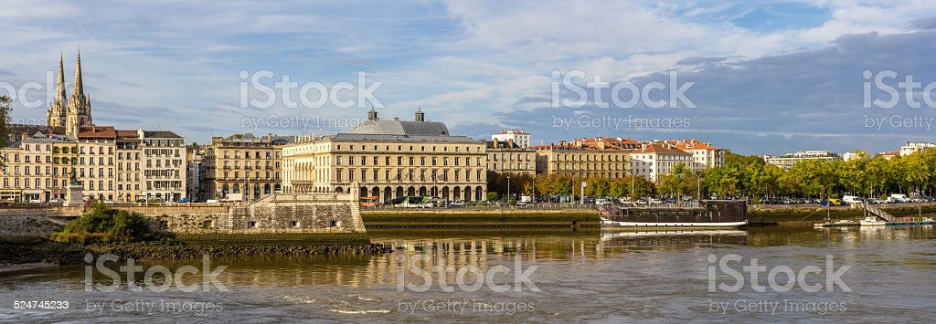 View of embankment in Bayonne - France, Aquitaine stock photo
