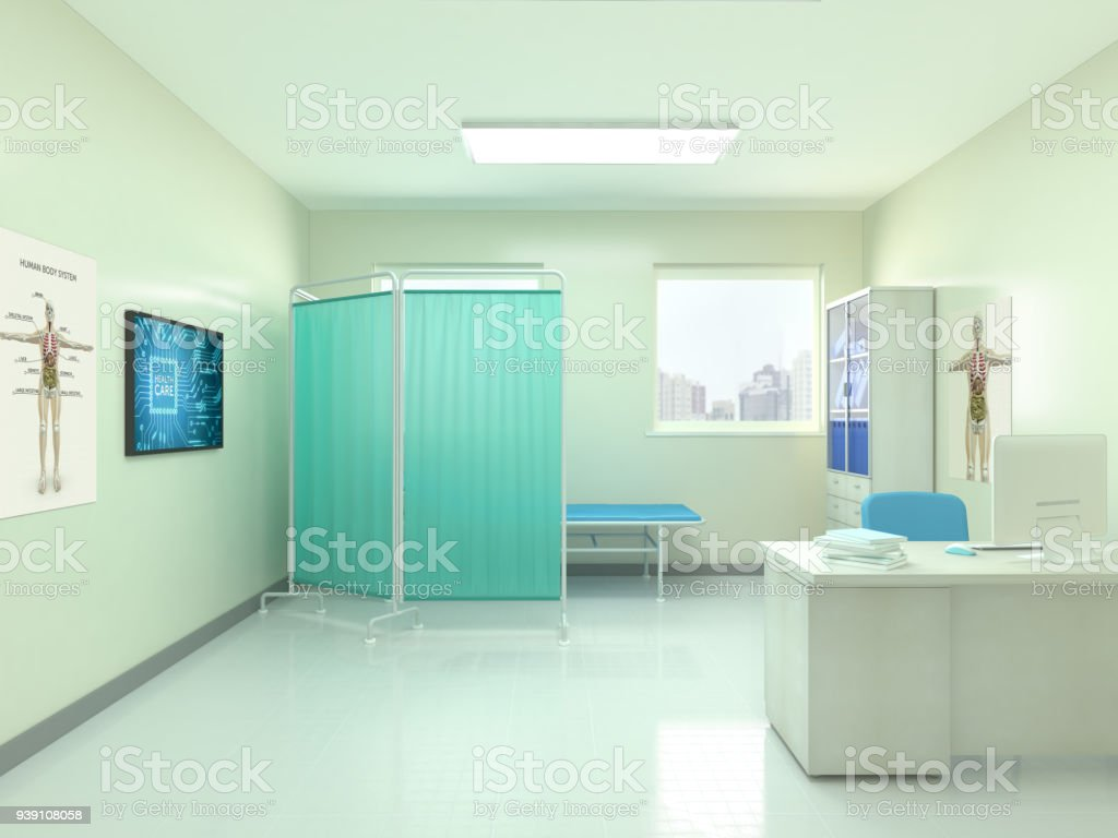View Of Empty Doctor's Office stock photo