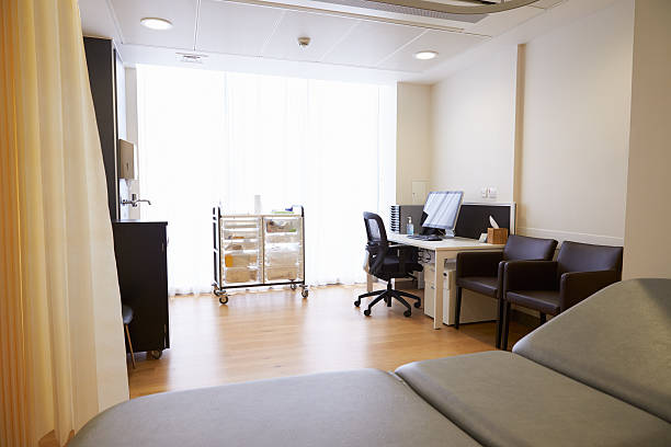View Of Empty Doctor's Surgery stock photo