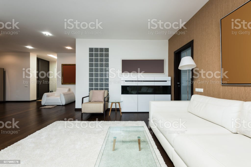 Empty Modern Living Room View Of Royalty Free Stock Photo