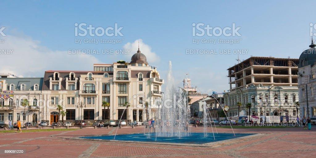 View of Eras Moedani square in Batumi, Georgia stock photo