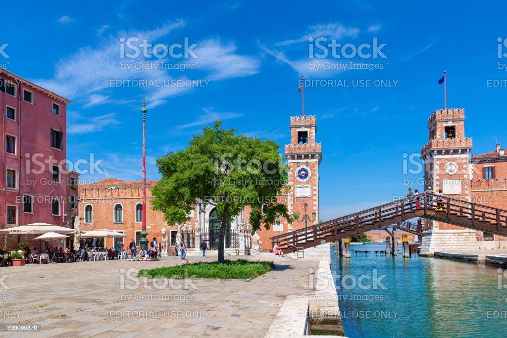 Vista do famoso Arsenal de Veneza. - foto de acervo