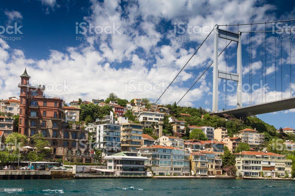 Ansicht der Fatih Sultan Mehmet-Brücke. Istanbul. Turkei. – Foto