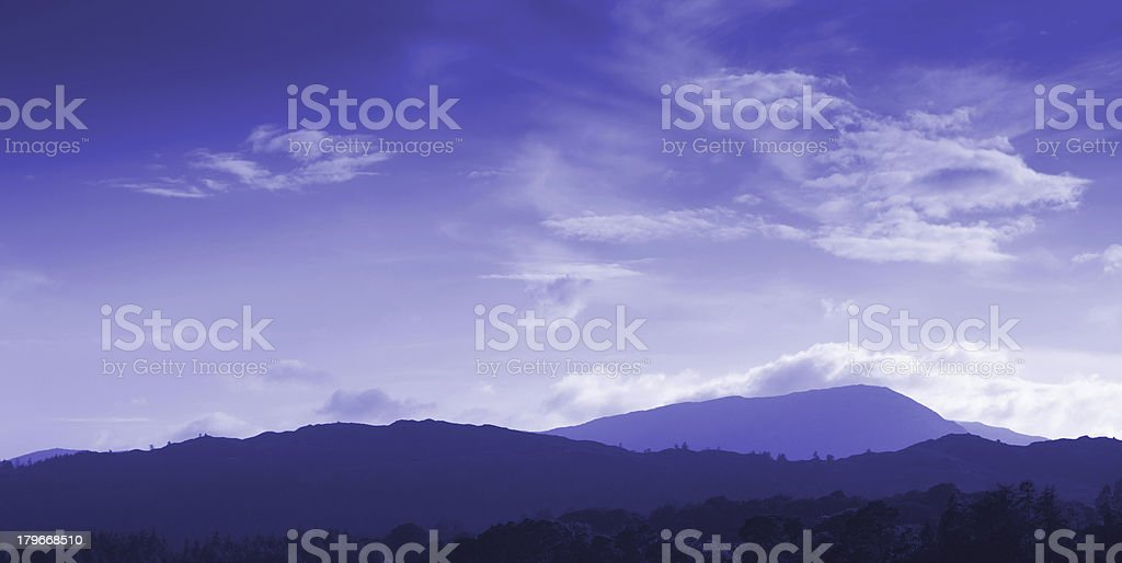 View of fells from Ambleside royalty-free stock photo