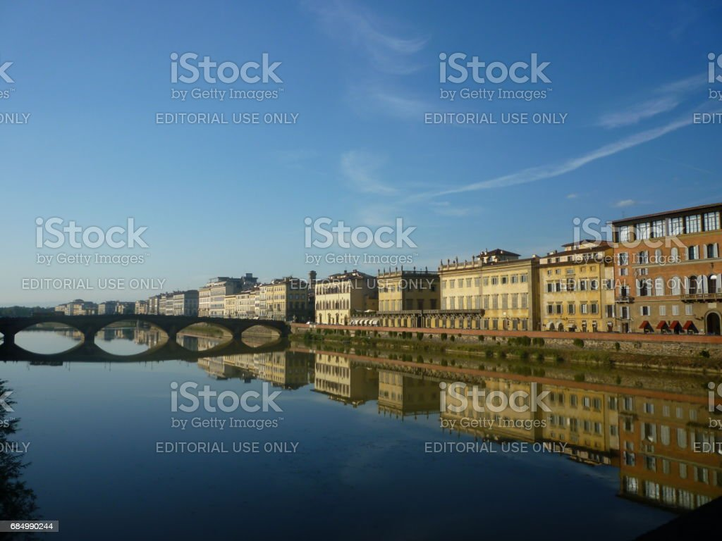 View of Florence and the River Arno stock photo