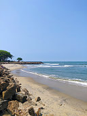 View of Fort Kochi beach along the Arabian Sea, Kerala, India