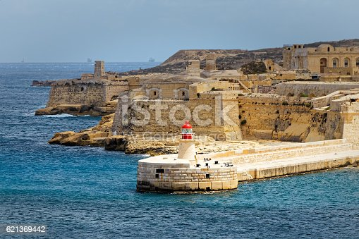 istock View of Fort Rinella from St. Elmo, Valletta 621369442
