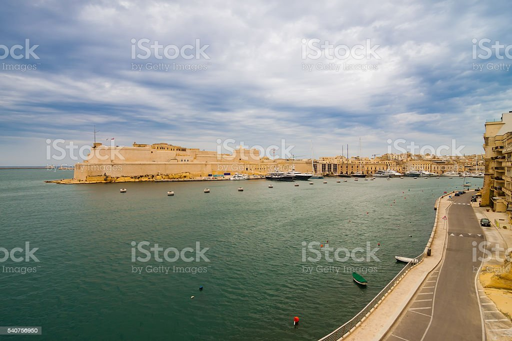 View of Fort St Angelo. stock photo