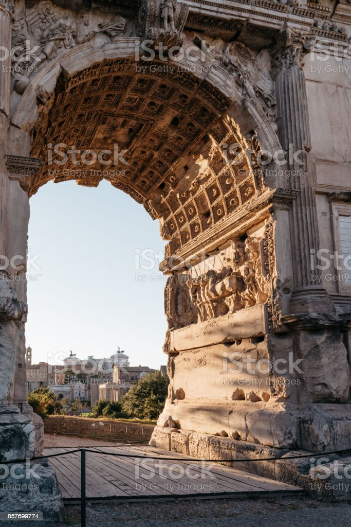 View of Forum of Rome stock photo