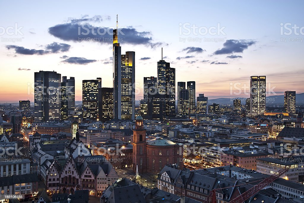View of Frankfurt stock photo