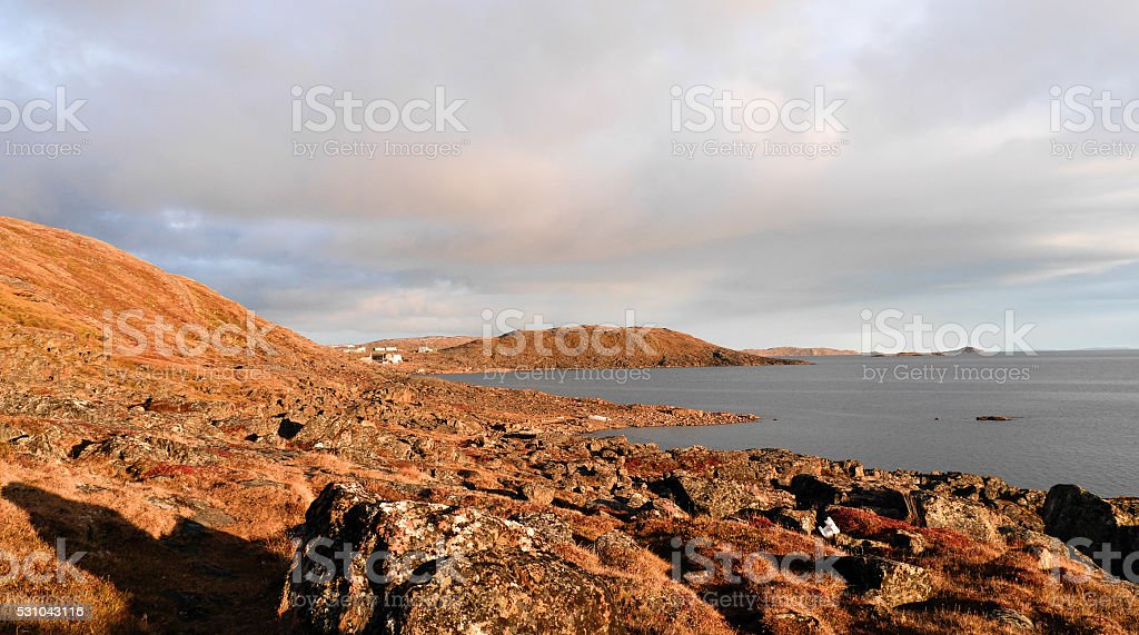 View of frobisher bay stock photo
